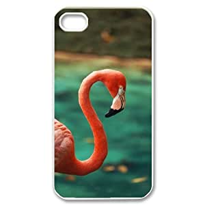 WJHSSNB Customized Print Flamingos Pattern Back Case for iPhone 4/4S