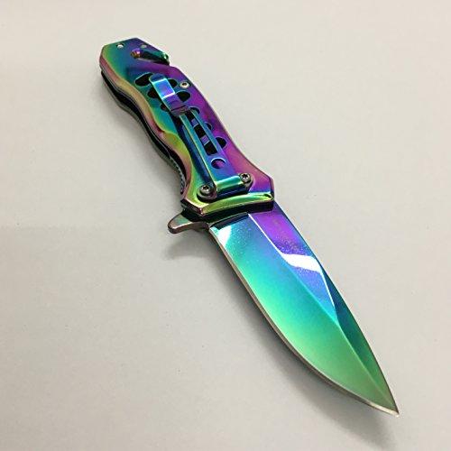 J-Unicorn EDC Cool Sharp Tactical Folding Pocket Knife,SpeedSafe Spring Assisted Opening Knifes With Liner Lock,Pocketclip,Glass Breaker,Seatbelt Cutter (Blade Liner Lock Pocket Knife)