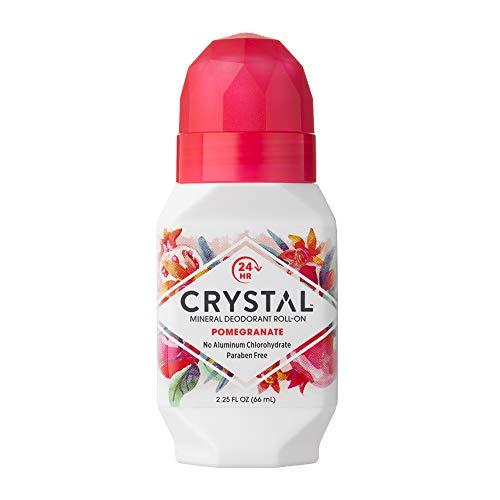 Crystal Mineral Deodorant Roll-On, Pomegranate, 2.25 fl oz (Pack of 12)