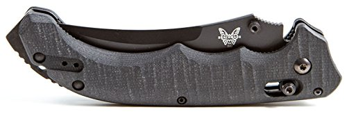 Benchmade 860SBK Bedlam Folding Knife - ComboEdge blade - Rock Solid Fit & Finish - AXIS locking mechanish - Feels Great in the hand Regardless of which way you hold it - Hunting - Tactical Knife