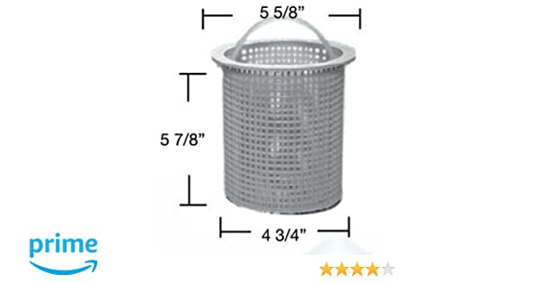 Aladdin B-13 Skimmer Basket with Handle for the No-Niche Skimmer White in Color