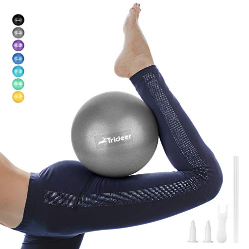Balloon Weights Make Your Own (Trideer Pilates Ball, Barre Ball, Mini Exercise Ball, 9 Inch Small Bender Ball, Pilates, Yoga, Core Training and Physical Therapy, Improves Balance (Home & Gym & Office))