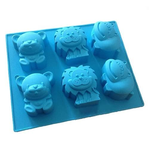 Allforhome(TM) Lion Bear Hippo Silicone Cake Baking Mold Cake Pan Muffin Cups Biscuit Chocolate Ice Cube Tray DIY Mould