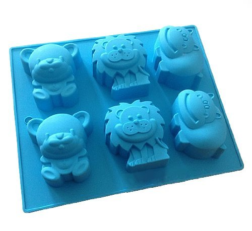 Allforhome Lion Bear Hippo Silicone Cake Baking Mold Cake Pan Muffin Cups Biscuit Chocolate Ice Cube Tray DIY Mould Moules à Savon AHGRD010163