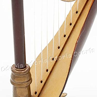 Odoria 1:12 Wooden Harp with Black Case Musical Instrument Miniaure Dollhouse: Toys & Games