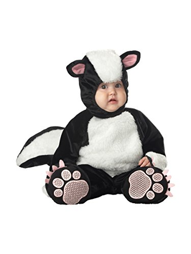 InCharacter Costumes Baby's Lil' Stinker Skunk Costume, Black/White/Pink, 6-12 (Halloween Skunk Costume)