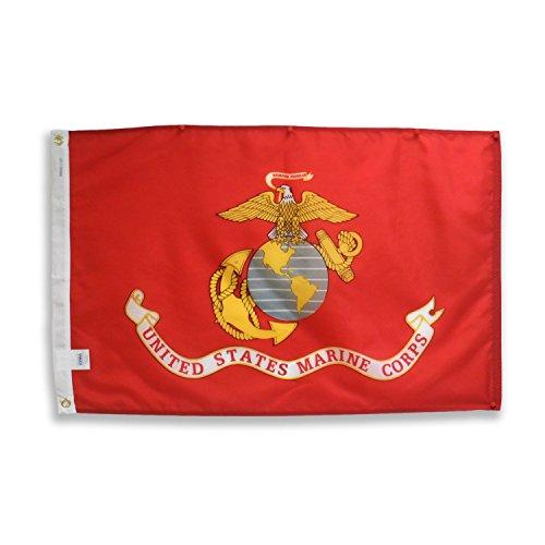 U.S. Marine Corps Military Flag - 2x3 ft Heavy Duty 200-denier 100% Outdoor Nylon - Made in U.S.A. by EHT Flags