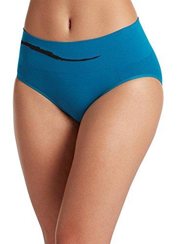 4533f0c6b940 Jockey Women's Underwear Seamfree Sporties Wave Hipster, peacock blue, 6