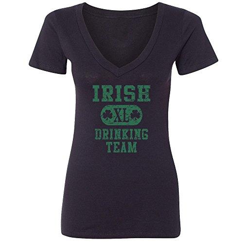 Amazing Items Irish XL Drinking Team Costume For St. Patrick's Day Women's V-Neck Shirt, Large, (Woman Halloween Costume Ideas 2016)