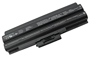 Replacement Battery for Sony Vaio VPC-F136FM [No BIOS Update Required] Tech Rover™ Max-Life Series 12-Cell [Super-Capacity] [Black] [Plug-and-Play]