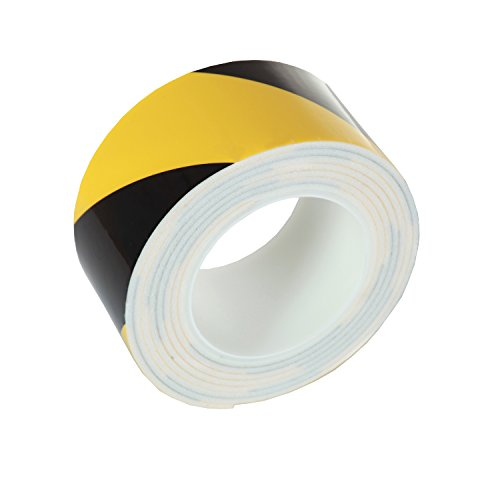 EcoMatrix Warning Foam Adhesive Tape Safety Hazard Caution Reflective Tapes with High Visibility Black/Yellow Stripe for Car Protection Floor Wall Marking (3m)