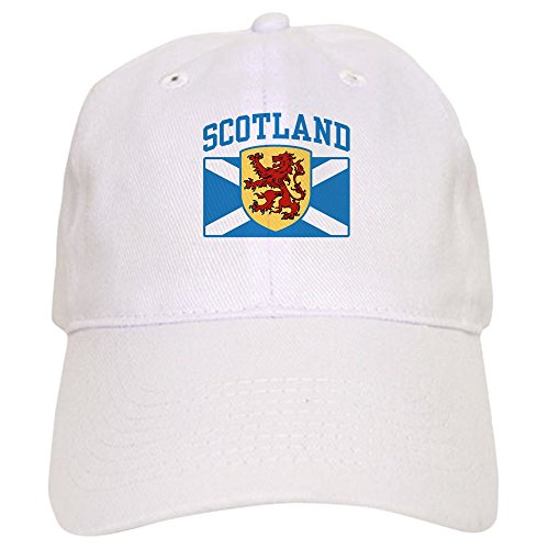 - CafePress Scotland Baseball Cap with Adjustable Closure, Unique Printed Baseball Hat White