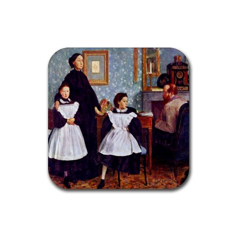 Portrait of the Bellelli Family By Edgar Degas Square Coasters - Set of 4