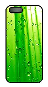 iPhone 5 5S Case Abstract Green Water Droplets PC Custom iPhone 5 5S Case Cover Black