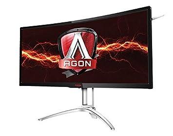 AOC Agon AG352UCG6 35in Curved Gaming Monitor, 1800R, UWQHD 3440×1440 VA Panel, G-SYNC, 120Hz, 4ms, DisplayPort HDMI Renewed