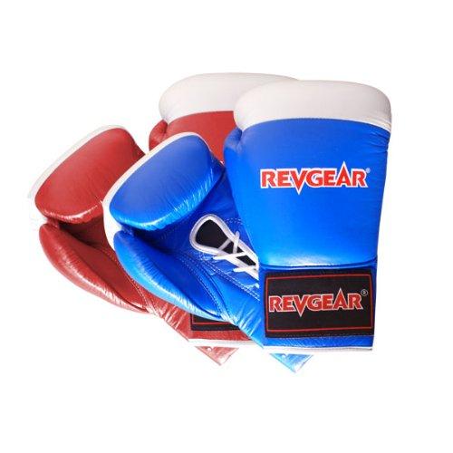 Revgear Amateur Boxing Lace Glove (Blue, 12-Ounce) (Revgear Boxing Gloves 12oz)