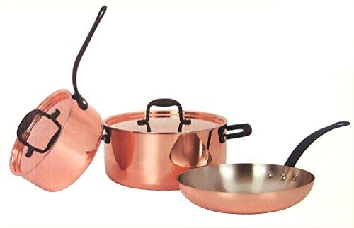 Kupfertopfset Kochtopfset 2x Kochtopf 1x Pfanne 2x Deckel Material Kupfer