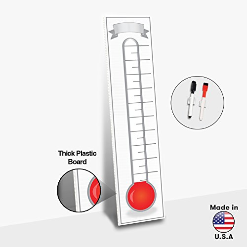 goal setting fundraising thermometer chart 48 x 11 giant