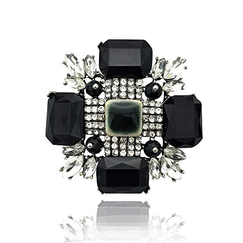 - Earofcorn Exaggeration Large Crystal Cross Brooches Women Fashion Vintage Various Party Wedding Accessories Corsage Gift
