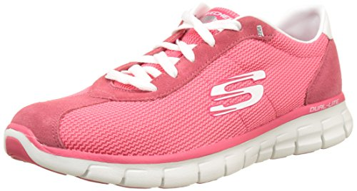 Skechers Caso Le Donne Sinergia Chiuso Scarpe Da Corsa Rosa