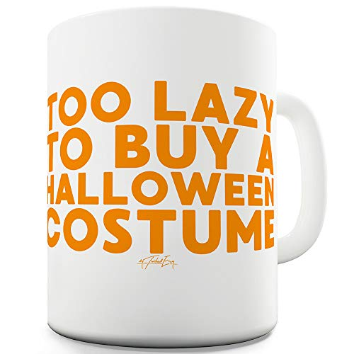 Too Lazy To Buy A Halloween Costume 15 OZ Funny Office Secret Santa -
