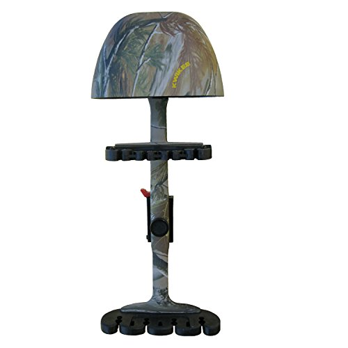 Kwikee Kwiver Combo 4 Arrow Bow Quiver for Archery and Hunting - Quick Detach, Lightweight, Quiet Shooting with, Realtree APG Camo ()