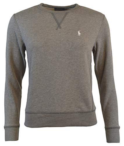 (Polo Ralph Lauren Women's Fleece Pony Sweatshirt-Heather Grey-Small)