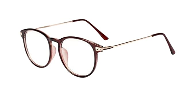 Amazon.com: anteojos Hipster Brown Classic Retro Clear Lens ...