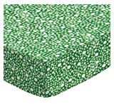 Cheap SheetWorld Fitted Pack N Play Sheet Fits Graco 27 x 39 – Confetti Dots Green – Made in USA