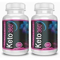 Keto360 2 Original de Shark Tank - 2 Meses de Tratamiento - 60 cápsulas - Keto 360