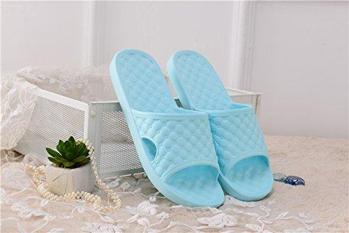 bagno maschio Casa elasticizzato casa pantofole alta ultra lago all'aperto Estate indossare pvc donna e uomo e paio comodo BAOZIV587 antiscivolo 37 blu sandali pantofole donne leggero pantofole CdvaPxnqPw