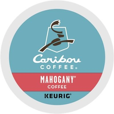 Caribou Coffee Mahogany, K-Cups for Keurig Brewers, 96-Count, 9.6 oz - Mahogany Semi