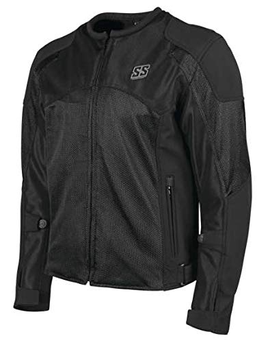 Speed and Strength Midnight Express Mesh Men's Street Motorcycle Jacket - Black / X-Large