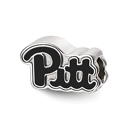 Bonyak Jewelry Sterling Silver LogoArt University of Pittsburgh Pitt Script Enameled Logo
