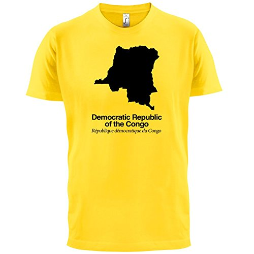 Democratic Republic of the Congo / Demokratische Republik Kongo Silhouette - Herren T-Shirt - Gelb - S