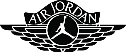 amazon com air jordan logo jumpman 23 huge flight wall decal