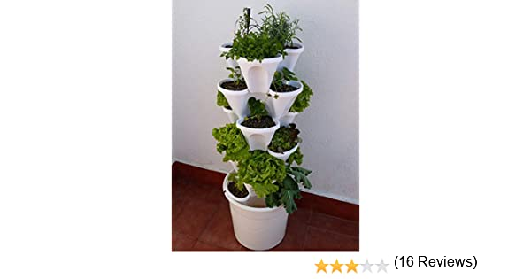 Ecogarden Irisana 72.EG10.B Huerto Vertical hidropónico, Blanco ...