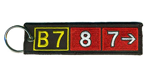 Boeing 787 Airport Taxiway Sign Embroidered Keychain, used for sale  Delivered anywhere in USA