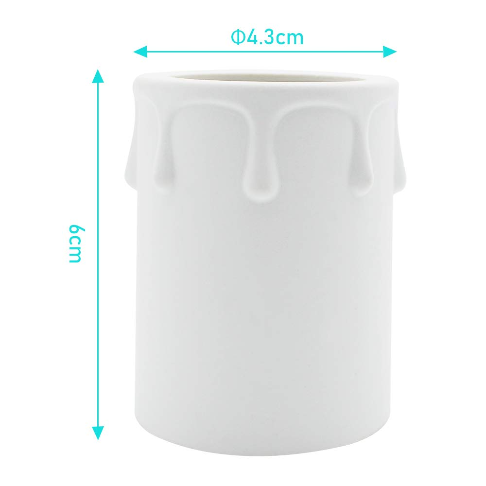 KingYH 9 Pack 43 60mm Candle Drips Plastic Covers Tubes Chandelier Socket Covers for Chandelier Wall Light Pendant Light Fittings and Most Lampholders Replacement-White
