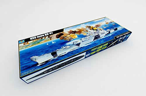 Class Iowa Battleship - Trumpeter USS Iowa BB61 Battleship Battle of Leyte Gulf 1944 Model Kit (1/200 Scale)