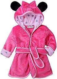God Sweet Baby Boys Girls Toddle Winter Flannel Bathrobe Hooded Housecoat