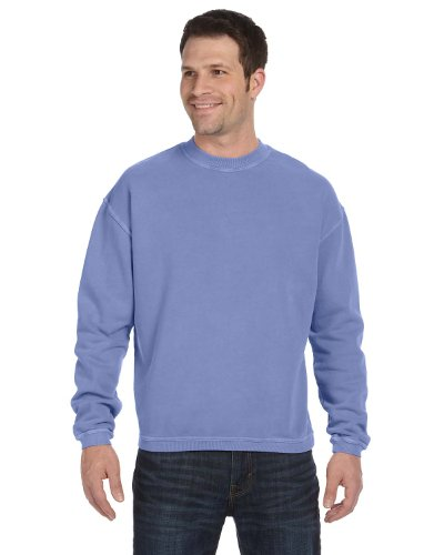 Authentic Pigment 11 oz Pigment-Dyed Ringspun Fleece Crew Sweatshirt 11561 purple XX-Large
