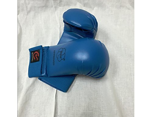 Wkf Karate Mitt - Wacoku WKF Approved Elastic Closure Karate Gloves Mitts (Blue, S (3.5 X 8.27))