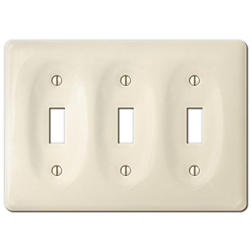 (AMERELLE Allena Biscuit Ceramic 3 Toggle Wallplate)