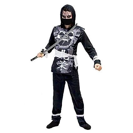 Partilandia Disfraz Ninja Zombie Negro para Hombre (L ...