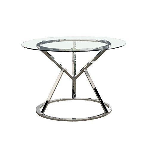 247SHOPATHOME IDF-3170RT Shanti Dining Table, Chrome