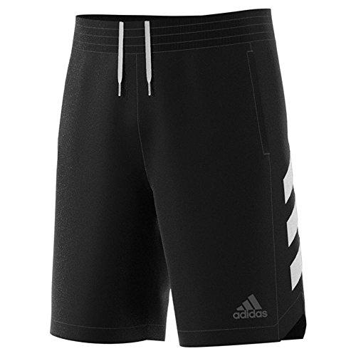 adidas Men's Sport Shorts Black/White Large 9 by adidas