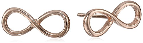 Sterling Silver Rose Gold-Plated Infinity Stud Earrings