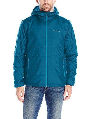 Columbia Men's Saddle Chutes Hooded Jacket, Large, Phoenix Blue (Phoenix Waterproof Jacket)