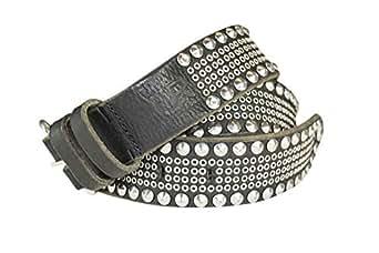 UR vintageous Black Leather Belt For Men